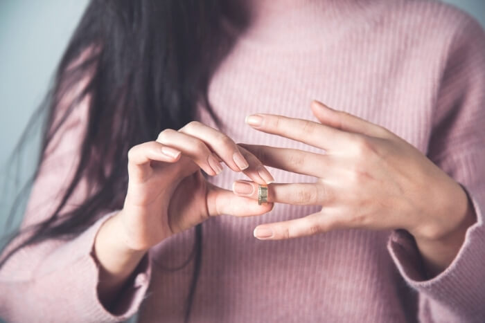 Woman-with-Slim-Fingers-Wearing-a-Ring