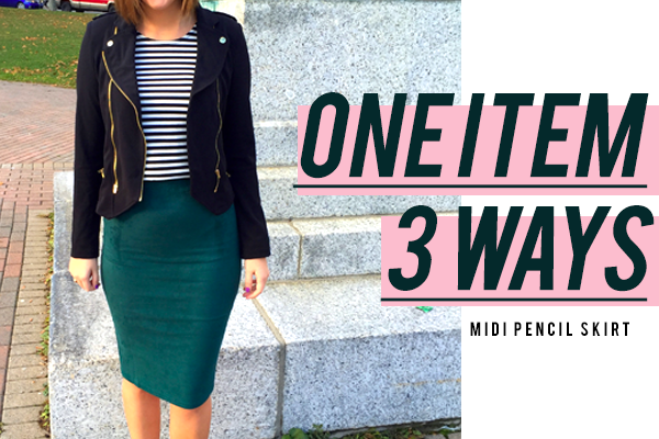 1 Item, 3 Ways: Midi Pencil Skirt