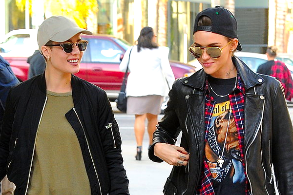 Freshly Single Ruby Rose out w. Halsey