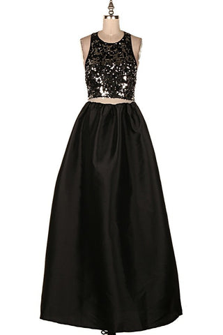 Sequin Crop Maxi Dress
