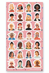 Girls Rule Sticker Set