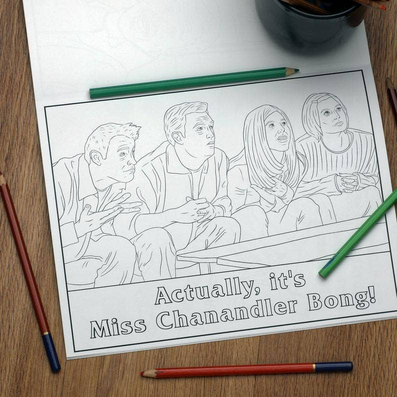 Unofficial Friends Inspired Colouring Book