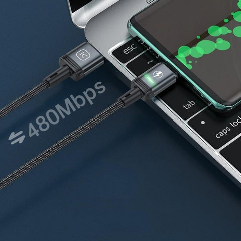 magnetic led charging cable for iphone with data transfer