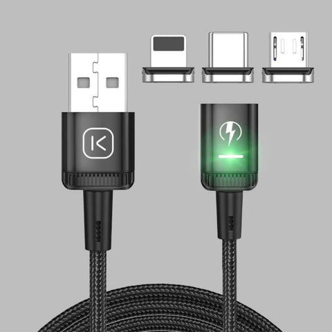 cablenova glocharge 3 in 1 magnetic led charging cable