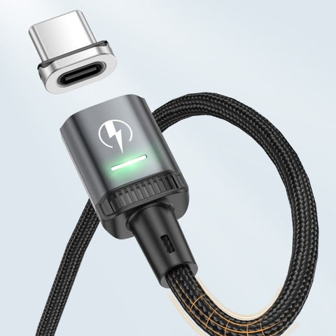 magnetic phone charger with bending wire