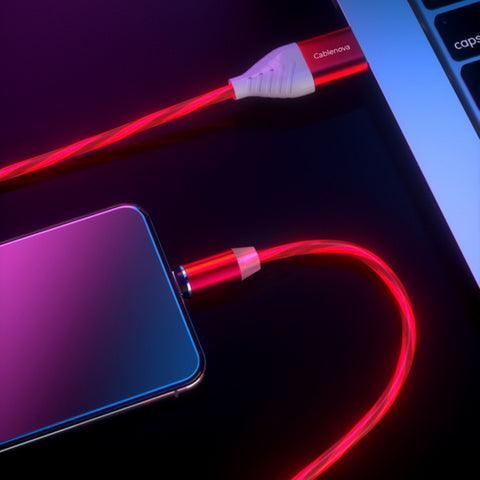 cablenova magpower 3 in 1 magnetic charging and data cable with fast charge 3.0a