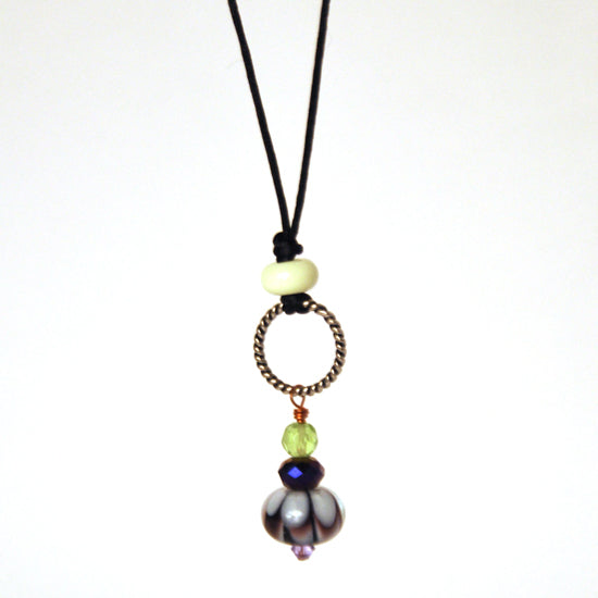 Black River Beads - Glass Art Necklace
