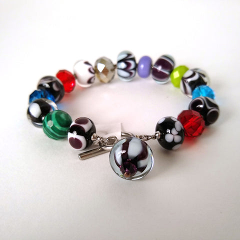 Black River Beads - Glass Bead Bracelet