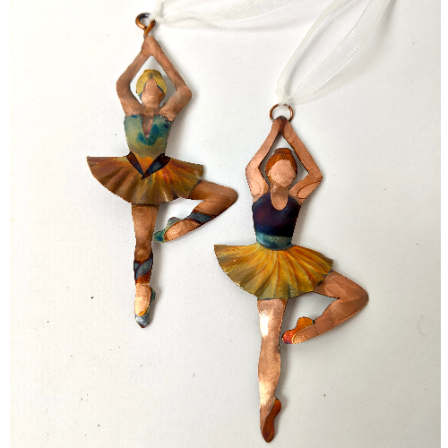 Ornament - Gypsy Phoenix Copper Ballerina