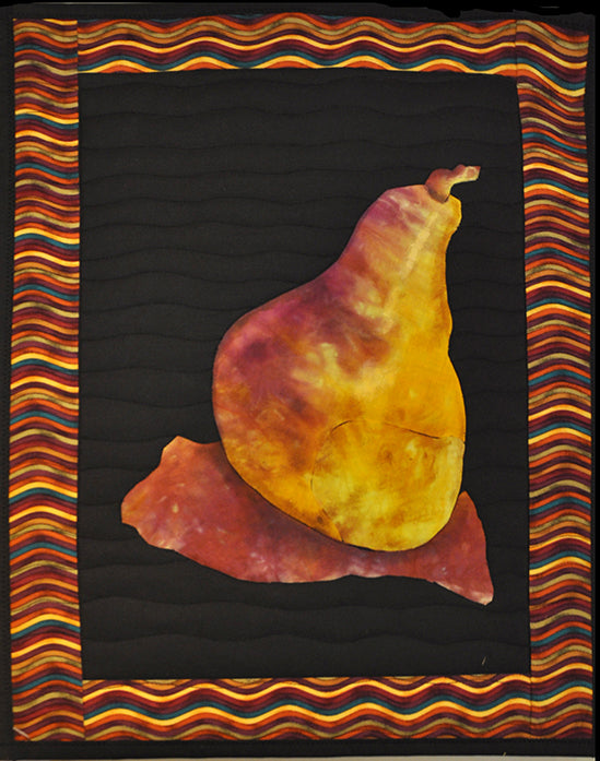 Quilted Wall Hanging - Pear