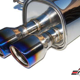 INVIDIA Q300 110mm Quad Roll Titanium Tip Catback Exhaust for WRX STi 15-20