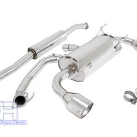 "Manzo 4.5"" Dual Stainless Roll Tip Catback Exhaust For BRZ FRS FR-S 86 ZN6 13-16"