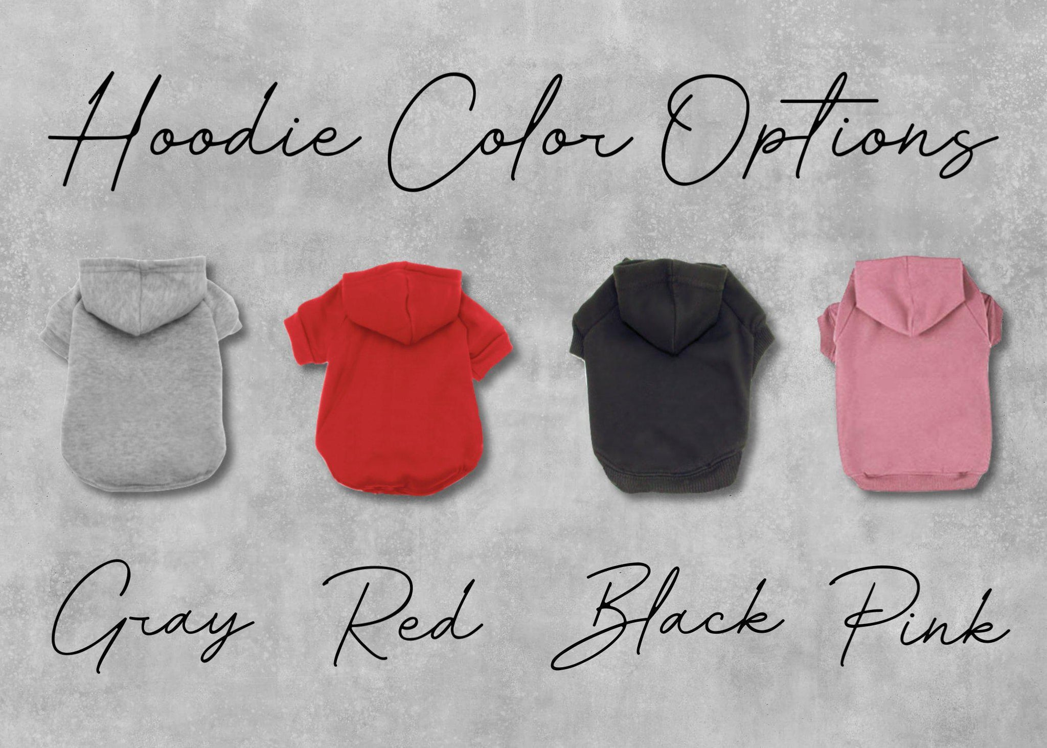 Custom One Color Text or Graphic Dog Hoodie-TheHonestDog