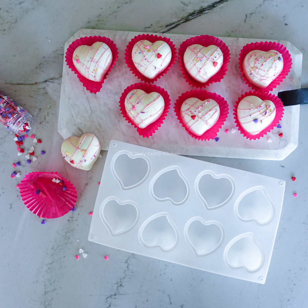 Rounded Heart Mold - 8 Cavity