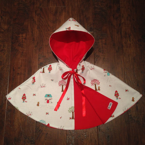 Little Red Riding Hood Reversible Hooded Cape