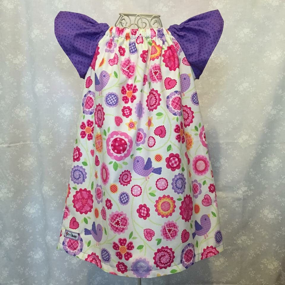 Sweet Birds Peasant Dress
