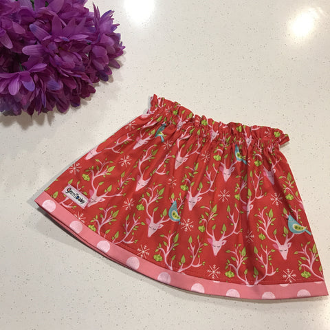 Forest Dreams Tulip Skirt in Red