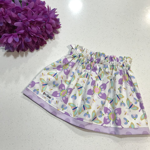 Butterfly Dreams Tulip Skirt in Lilac