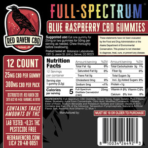 Open image in slideshow, Hemp Alaska CBD Gummy Labels Red Raven CBD Contains THC