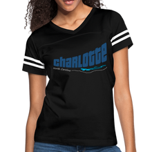 Load image into Gallery viewer, Charlotte North Carolina Women's Sports Tee - black/white