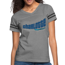 Load image into Gallery viewer, Charlotte North Carolina Women's Sports Tee - heather gray/charcoal