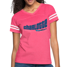 Load image into Gallery viewer, Charlotte North Carolina Women's Sports Tee - vintage pink/white