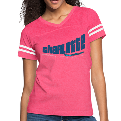 Charlotte North Carolina Women's Sports Tee - vintage pink/white