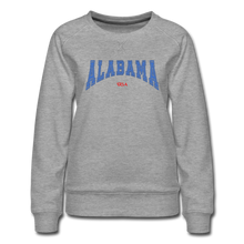 Load image into Gallery viewer, Alabama USA Women's Sweatshirt - heather gray
