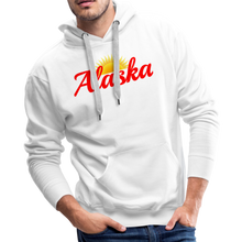Load image into Gallery viewer, Alaska Midnight Sun Men's Hoodie - white