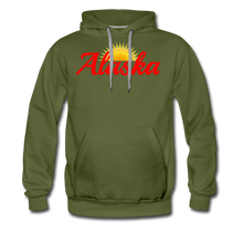 Load image into Gallery viewer, Alaska Midnight Sun Men's Hoodie - olive green