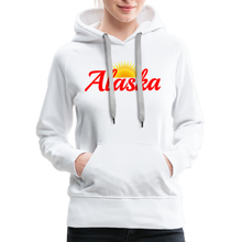 Load image into Gallery viewer, Alaska Midnight Sun Women's Hoodie - white