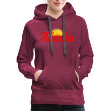 Load image into Gallery viewer, Alaska Midnight Sun Women's Hoodie - burgundy