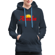 Load image into Gallery viewer, Alaska Midnight Sun Women's Hoodie - navy