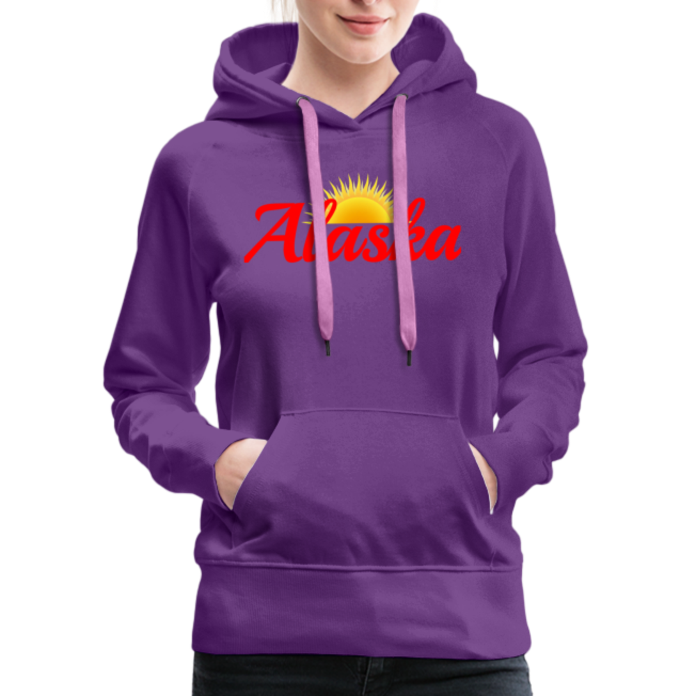 Alaska Midnight Sun Women's Hoodie - purple