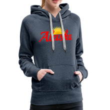 Load image into Gallery viewer, Alaska Midnight Sun Women's Hoodie - heather denim