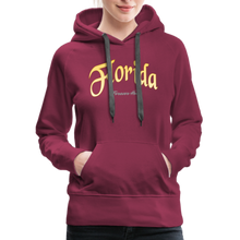 Load image into Gallery viewer, Florida Forever Home Women's Hoodie - burgundy