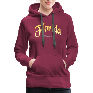 Florida Forever Home Women's Hoodie - burgundy