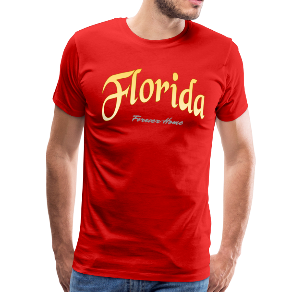 Florida Forever Home Men's T-Shirt - red