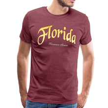 Load image into Gallery viewer, Florida Forever Home Men's T-Shirt - heather burgundy