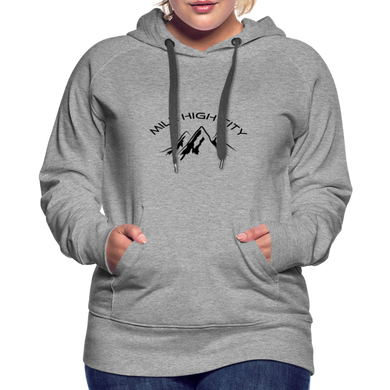 Mile High City Women's Hoodie - heather gray