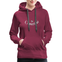 Load image into Gallery viewer, The Connecticut Women's Hoodie - burgundy