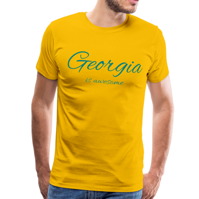 Georgia Is Awesome Men's T-Shirt - sun yellow