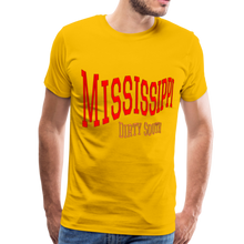 Load image into Gallery viewer, Mississippi Dirty South Men's T-Shirt - sun yellow