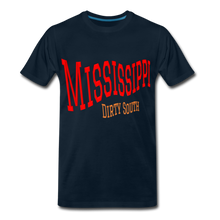 Load image into Gallery viewer, Mississippi Dirty South Men's T-Shirt - deep navy