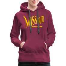 Load image into Gallery viewer, Missouri Did You Miss Me? Women's Hoodie - burgundy