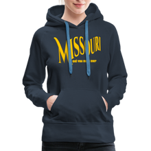 Load image into Gallery viewer, Missouri Did You Miss Me? Women's Hoodie - navy