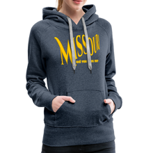 Load image into Gallery viewer, Missouri Did You Miss Me? Women's Hoodie - heather denim