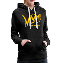 Load image into Gallery viewer, Missouri Did You Miss Me? Women's Hoodie - charcoal gray
