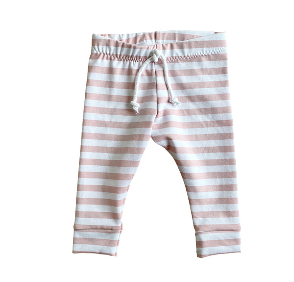 LEGGINGS BIG STRIPES ROSE