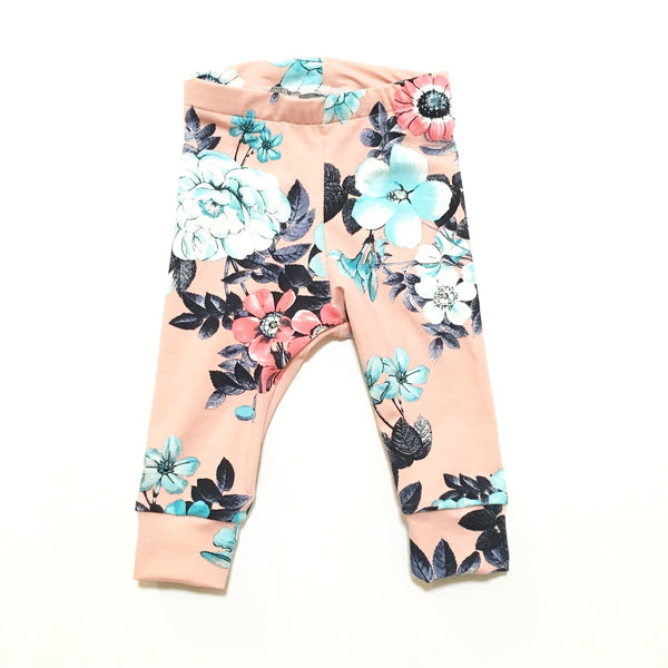 LEGGINGS FLORAL CORAL